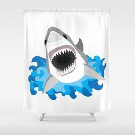 Shark Attack #2 Shower Curtain