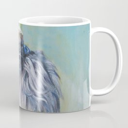 Brussels Griffon dog portrait from an original painting by L.A.Shepard Coffee Mug