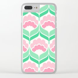 Mavis Mint Clear iPhone Case