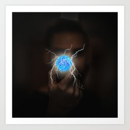 Energy Ball by GEN Z Art Print