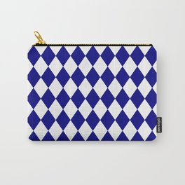 Diamonds (Navy Blue/White) Carry-All Pouch
