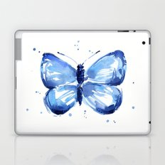 Butterfly Watercolor Blue Butterflies Laptop & iPad Skin
