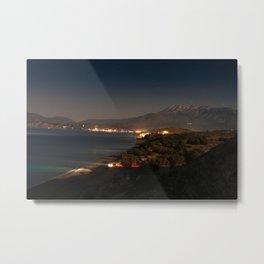 Komos Beach at Night Metal Print