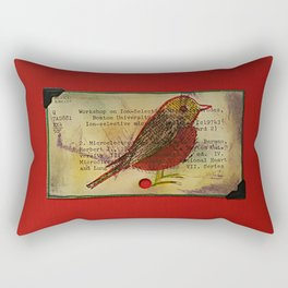 Bird and a library catalogue card 1 Rectangular Pillow