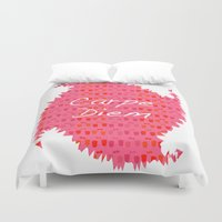 carpe diem Duvet Covers featuring Carpe Diem by Yasmina Baggili