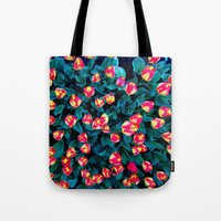 tulips Tote Bags featuring Tulips by Madison Webb