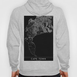 Cape Town Black Map Hoody