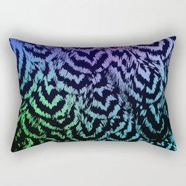 Rainbow Pencilled Rock Rectangular Pillow