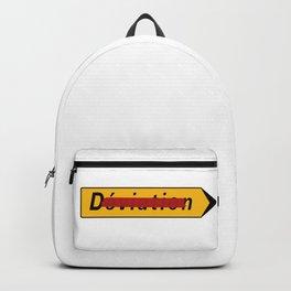 Deviation Road Sign Backpack