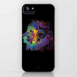 PSYCHEDELIC LION iPhone Case