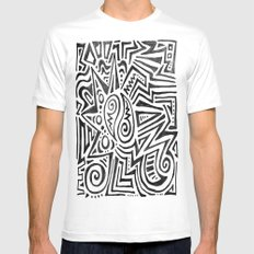 ART TRIBE Mens Fitted Tee MEDIUM White
