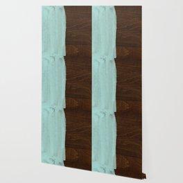Seafoam Blue Paint on Wood Wallpaper