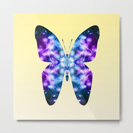 Butterfly 1 in blue and purple Metal Print