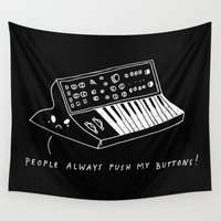 pun Wall Tapestries featuring Moog pun by Alxndra Cook
