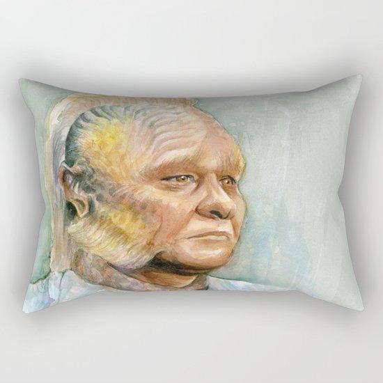 Neelix Watercolor Portrait Voyager Talaxian Geek Sci-fi Art Rectangular Pillow
