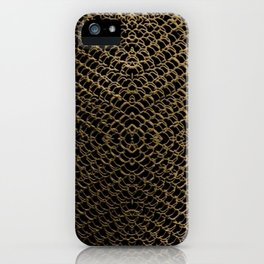 Gold Chain Mail iPhone Case