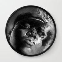 tupac Wall Clocks featuring It Was All A Dream... by Claras Blackbook