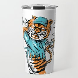 Tiger golfer WITH cap Travel Mug