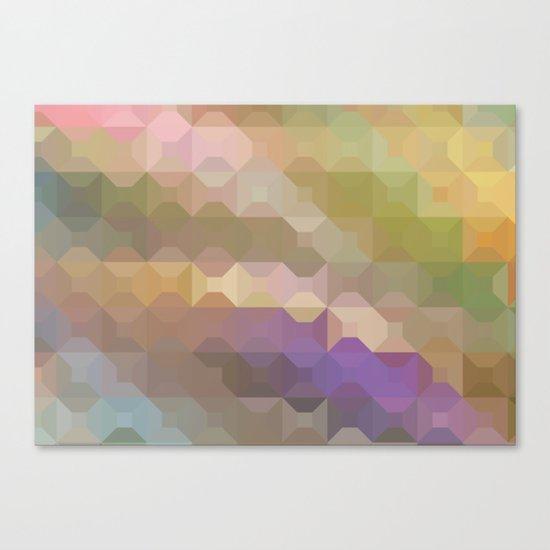 Soft Colored Rainbow Geometric Design Canvas Print