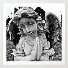 Cracked angel Art Print