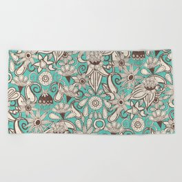 sarilmak mint brown Beach Towel