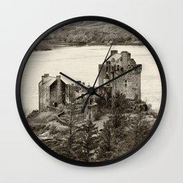 Eilean Donan Castle, Scotland. Wall Clock