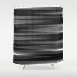 Soft, Dreamy Black White Shower Curtain