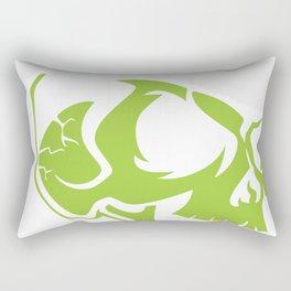 Gold Tooth Green Skull Santa Hat Christmas Rectangular Pillow