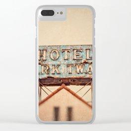 Hotel Mark Twain, Hollywood Clear iPhone Case