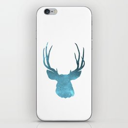 Deer head and stag simple illustration iPhone Skin
