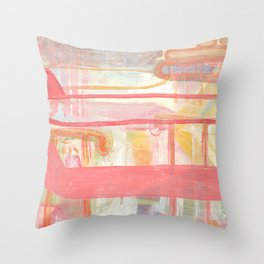 Layers And Chevrons Throw Pillow