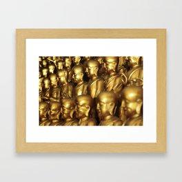 1000 Buddhas Framed Art Print
