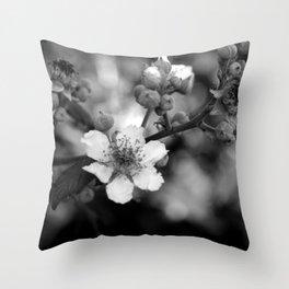 Blackberry Flower Throw Pillow