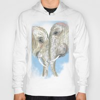elephants Hoodies featuring Elephants by Isabel Sobregrau