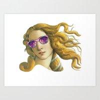Venus the Popart Goddess Art Print