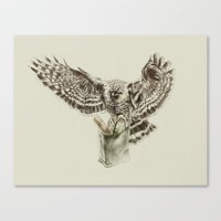 eagle Canvas Prints featuring Eagle by Anna Shell