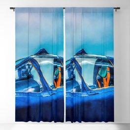 Cockpit Of A Modern Fighter Plane. Blue Colors. Aviation Art Blackout Curtain