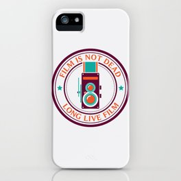 Film is not dead, long live film iPhone Case