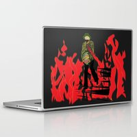 reading Laptop & iPad Skins featuring Reading by Soul of the Moon