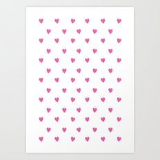 Flying Hearts (Pink) Art Print