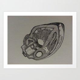 Heart Dissection Art Print