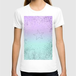 MERMAID Glitter Star #1 #decor #art #society6 T-shirt