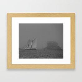 Island in the Fog Framed Art Print