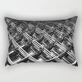 Rebar On Rebar - Industrial Abstract Rectangular Pillow