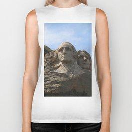 George Washington And Thomas Jefferson  - Mount Rushmore Biker Tank
