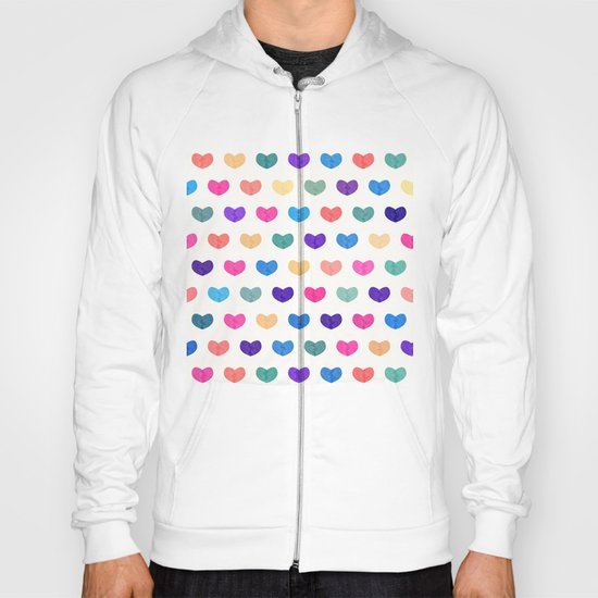Colorful Cute Hearts III Hoody