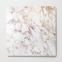 White Onyx Marble Metal Print