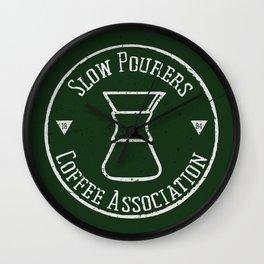 Slow Pourers Coffee Association Wall Clock