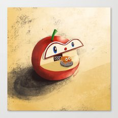 Apple Worm Bank Canvas Print