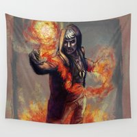 apollo Wall Tapestries featuring The Warlock Apollo by Rachel Charleene Smith